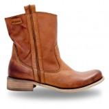 skórzane botki Wojas w kolorze brązowym - modne obuwie na jesień i zimę