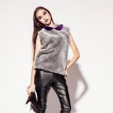 skórzane legginsy Aga Kowala-Surma w kolorze czarnym - kolekcja na jesień i zimę 2012/13
