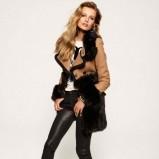 skórzane legginsy Juicy Couture w kolorze czarnym - kolekcja świąteczna 2012