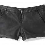 skórzane szorty House w kolorze czarnym - kolekcja sylwestrowa 2012