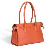skórzany kuferek Valentini w kolorze pomarańczowym - modne dodatki