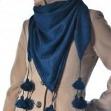śliczna chusta Grey Wolf w kolorze granatowym - dodatki na jesień i zimę