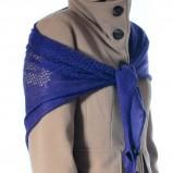 śliczna chusta Grey Wolf w kolorze niebieskim - modne dodatki 2012/13