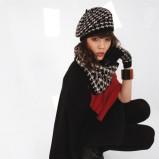śliczna czapka Solar w pepitkę - moda damska