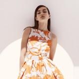 śliczna sukienka Dior w kwiaty - wiosna i lato 2013