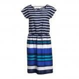 śliczna sukienka Lindex w paski w kolorze niebieskim - moda na jesień i zimę