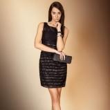 śliczna sukienka Monnari w kolorze czarnym - kolekcja świąteczna 2012