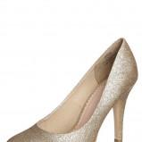 śliczne czółenka Pieces w kolorze złotym - buty na imprezę