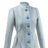 śliczny płaszczyk Orsay w kolorze błękitnym - moda jesień - zima 2012/2013