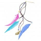 spinka do włosów Glitter z piórami - wiosna/lato 2012