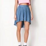 spódniczka Bershka dżinsowa - modny denim