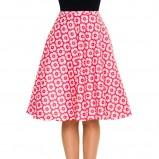 spódniczka Simple w kwiaty w kolorze różowym - moda 2013