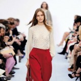 spodnie alladynki Chloe w kolorze czerwonym - jesień-zima 2012/2013
