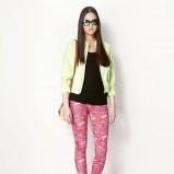 spodnie Bershka w kolorze różowym - lato 2013