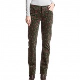 spodnie C&A we wzorki w kolorze khaki - moda na zimę