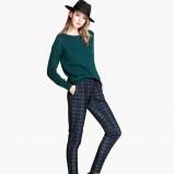 spodnie H&M w kratkę - jesień i zima 2013/14