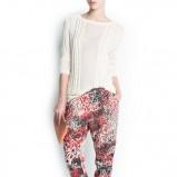 spodnie Mango we wzorki  - wiosna 2013