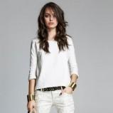 spodnie Stradivarius w kolorze białym