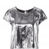 srebrna bluzka H&M - jesień 2011