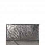 srebrna kopertówka New Look w węzową skórę - zima 2011/2012