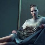 srebrna sukienka Bialcon z aplikacją - jesień-zima 2013/14
