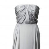 srebrna sukienka H&M długa - sezon jesienno-zimowy