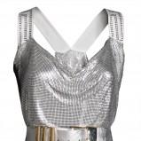 srebrna sukienka H&M z cekinami - jesień/zima 2011/2012