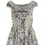 srebrna sukienka wieczorowa Topshop z cekinami - sylwester 2012/13