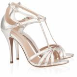 srebrne buty ślubne Pura Lopez