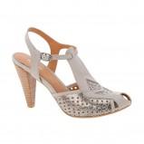 srebrne pantofle Aldo - jesień-zima 2010/2011