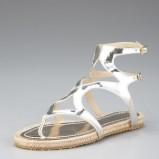 srebrne sandały Jimmy Choo - moda wiosna/lato
