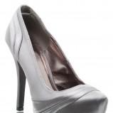 srebrne szpilki DeeZee - wieczorowe obuwie