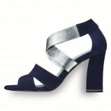 srebrno - czarne sandały Tamaris - kolekcja obuwia na wiosnę i lato 2013