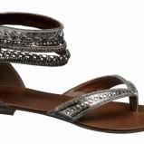 srebrny sandały Deichmann - lato 2011