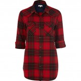 stylowa koszula River Island w kratkę w kolorze czerwonym