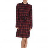 sukienka American Outfitters z długim rękawem i kołnierzykiem w kratkę  - modne sukienki 2012/2013