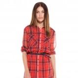 sukienka Bershka w kratkę w kolorze czerwonym - moda na zimę 2013/14