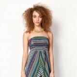 sukienka Bershka we wzorki - kolekcja wiosenno-letnia