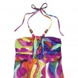 sukienka C&A we wzory długa - wiosna/lato 2011