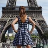 sukienka COL CLAUDINE PL w kratę
