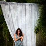 sukienka F&F we wzory długa - lato 2012