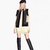 sukienka H&M w kolorze ecru - jesień i zima 2013/14