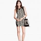 sukienka H&M we wzorki - moda 2013/14