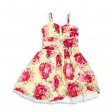 sukienka KappAhl w kwiaty - z kolekcji wiosna-lato 2012