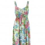 sukienka Kumi w kwiaty długa - wiosna-lato 2012