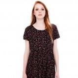 sukienka Pull and Bear w groszki w kolorze czarnym - jesień 2013
