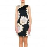 sukienka Simple w kwiaty w kolorze czarnym - moda na wiosnę i lato 2013