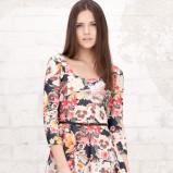 sukienka Stradivarius w kwiaty - lato 2012