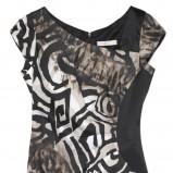 sukienka we wzory czarna TARANKO - wiosna-lato 2011