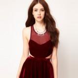 sukienka wieczorowa Asos w kolorze bordowym - zima 2012/13